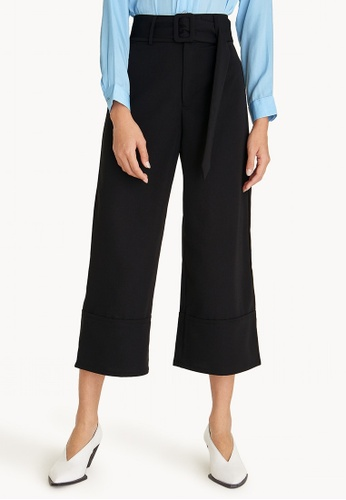 Pomelo black Belted High Waist Culottes - Black 8FD28AA4261AEEGS_1