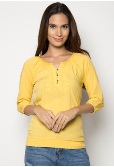 Elbow Sleeve Blouse