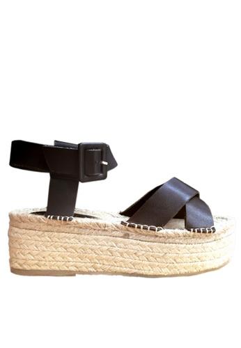 Twenty Eight Shoes black Cross Strap Platform Sandals VM189 TW446SH44ARRHK_1