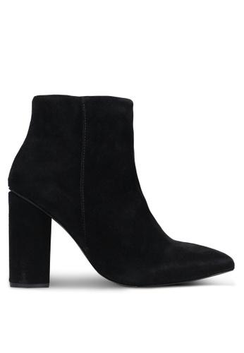 Selected Femme black Alexandra Suede Heel Boots SE157SH0RMC5MY_1
