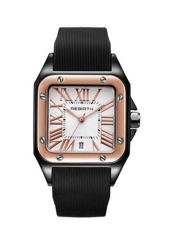 Rebirth Watch black and white REBIRTH jam tangan wanita Tali silikon REBIRTH Brand Top Mewah Tahan Air 9B703ACCE482EAGS_1