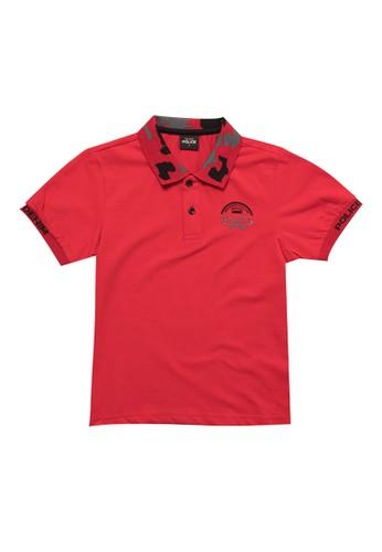 Police Denim red Comfort Polo Shirt Kids FB5BBKAEE6CC92GS_1