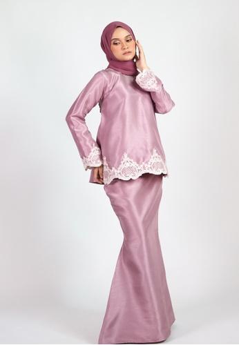 ESMA KURUNG KEDAH from Coudre Kuala Lumpur in Pink and Purple