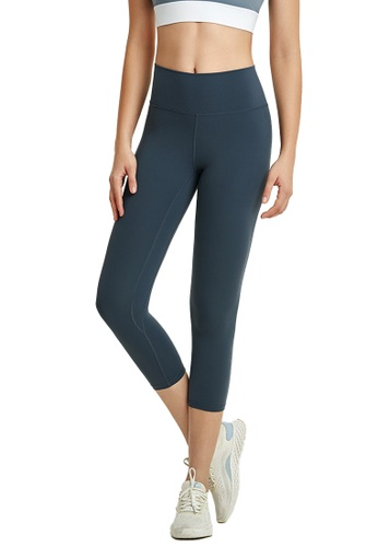B-Code navy ZWG1103b-Lady Quick Drying Running Fitness Yoga Leggings-Navy ACDE2AAD78D01DGS_1