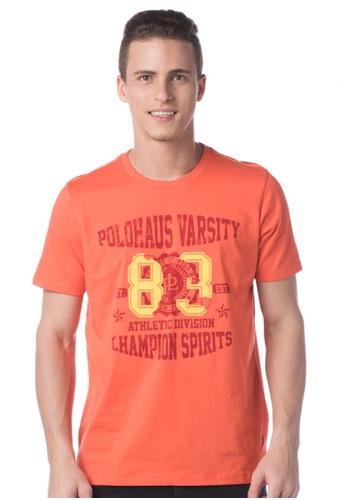 POLO HAUS orange Polo Haus - Printed Tee  (Orange) PO783AA43LOMMY_1