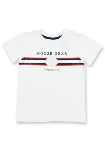 Moose Gear white Boys T-shirt With Print Details 8F9CEKA42115C6GS_1