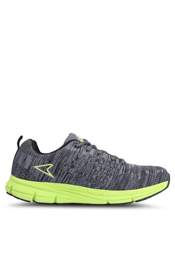 Power grey and green Athletic Running Shoes 3E610SH0CFB458GS_1