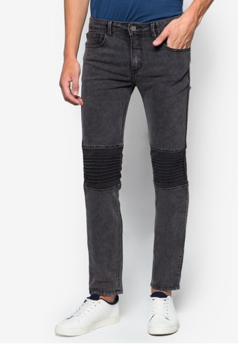 Men's Super Skinesprit outlet hong kongny Biker Jeans, 服飾, 服飾