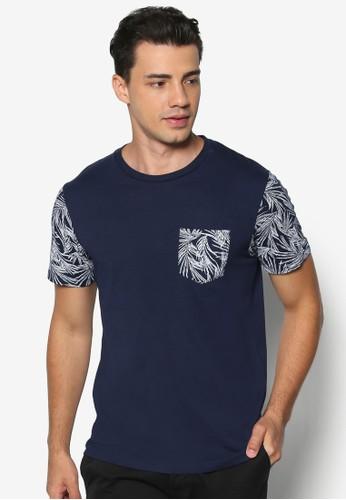花卉印花拼接T 恤, 服飾, esprit outlet 台中素色T恤