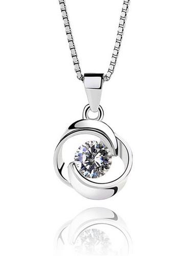 LYCKA silver LPP03630 S925 Silver Fashion Heart Necklace 46C3FAC262D9F9GS_1