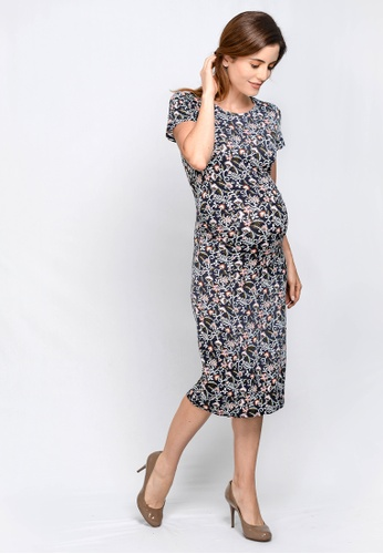c592df2352 Buy 9months Navy Perfect Fit Midi Maternity Dress Online