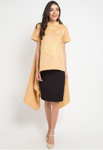 LUIRE by Raden Sirait yellow and multi and gold Zl-Cheongsam DD692AAD6A4A88GS_1