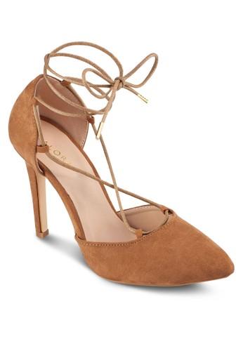 側鏤空繞踝繫帶高跟zalora鞋子評價鞋, 女鞋, 厚底高跟鞋