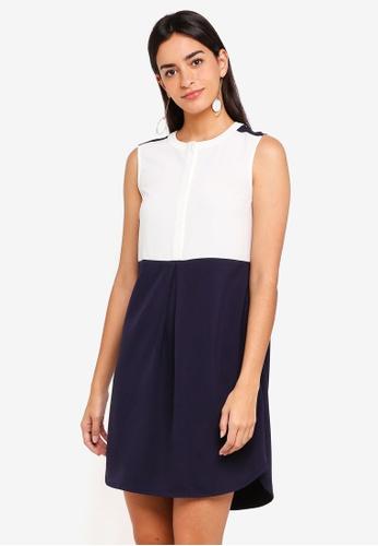 ZALORA multi Mixed Fabric Dress A7489AA2C0EEE2GS_1