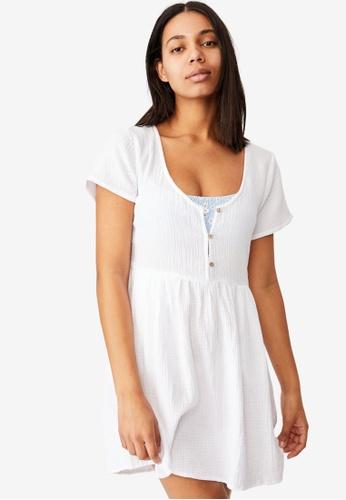 Cotton On Body white Button Up Beach Dress 9754EAA0F16822GS_1