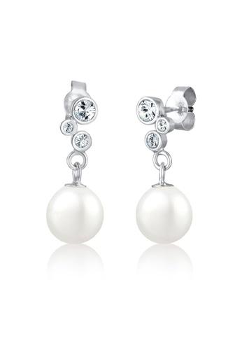 ELLI GERMANY silver Earrings Pearl Eardrops Crystals EL474AC0S1ZQMY_1