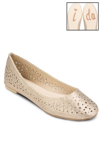 雕花圓頭平底鞋, esprit招聘女鞋, 鞋