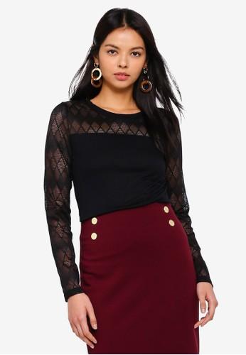 JACQUELINE DE YONG black Renee Lace Top CFDA6AA560C9B8GS_1