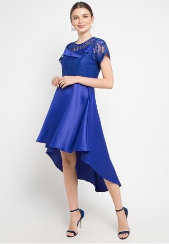 FAME blue High Low Dress F8F63AAD87A504GS_1