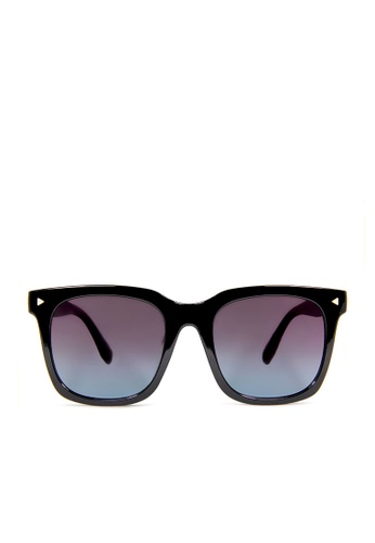 ASLLY black and blue and multi Kafka by the Sea│Black Sunglasses with gradient blue lenses 9D8B5GL510BA9EGS_1