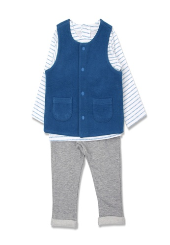Organic mom blue Organic Cotton Beetles vest Outfit FD7C0KA400B86FGS_1