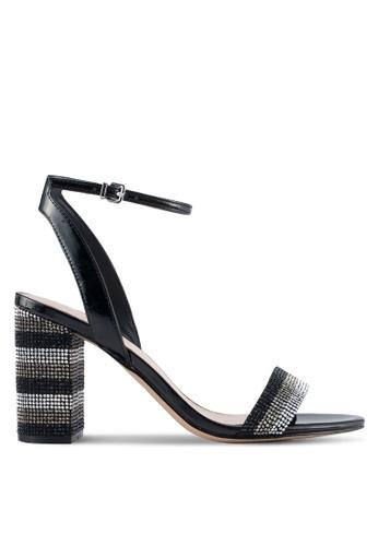 ALDO black Carerith Heeled Sandals 9A0E4SH7DDE0CCGS_1