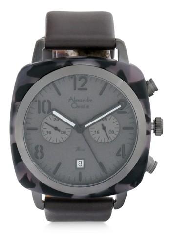 Alexandre Christie black Alexandre Christie Jam Tangan Pria - Black Grey - Leather Strap - 6457 MCLIPGR 76AFFAC827CABAGS_1