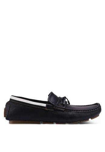 UniqTee 黑色 Penny Loafers with Lace A1806SHAFDD86EGS_1
