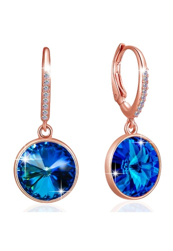 Krystal Couture silver KRYSTAL COUTURE Precious Drop Earrings Coral Blue Embellished with Swarovski crystals CB17DACE03580CGS_1