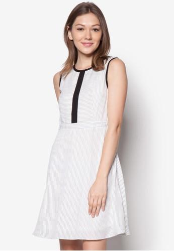 Milly 條紋無esprit童裝門市袖連身裙, 服飾, 服飾