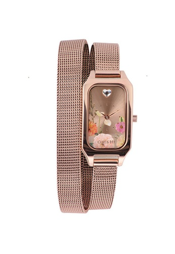 Oui & Me gold OUI&ME Finette Quartz Watch Rose Gold Metal Band Strap ME010164 8DE72AC5C73B3AGS_1