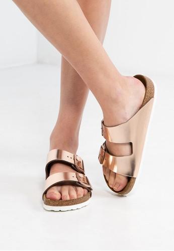 Arizona 雙扣環帶拖鞋涼鞋, 女鞋, esprit 西裝鞋