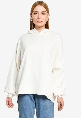 LOWRYS FARM white Oversized Hooded Sweatshirt C8AA1AA2575661GS_1