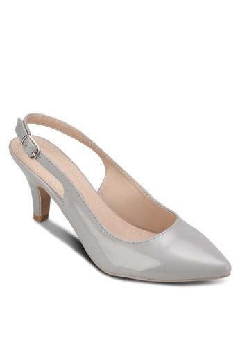 露跟踝帶中跟鞋, 女鞋, 厚底zalora 包包 ptt高跟鞋
