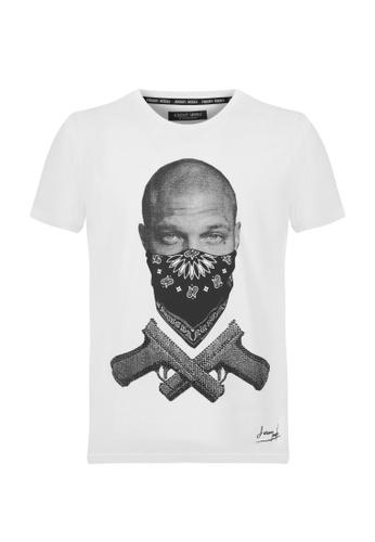 Jeremy Meeks white Men Swarovski Detailed T-Shirt White 00BB5AAA348FD1GS_1