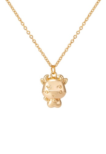 CELOVIS gold CELOVIS CNY 2021 LIMITED EDITION - Golden Ox in Cute Pendant Chain Necklace 231C5AC3D23A1AGS_1