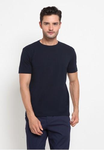 The Executive navy Basic Round T-Shirt F62E0AA6D96610GS_1
