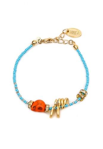 Silverworks orange and blue Cyan Tribal Bracelet SI696AC58VCVPH_1