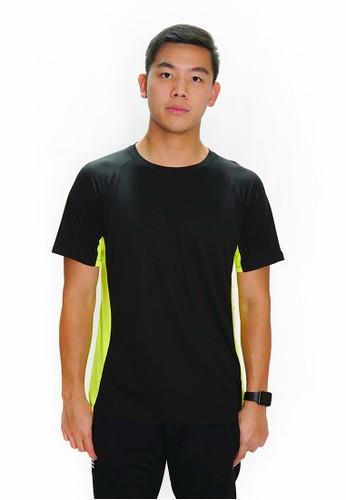 Trijee black and green Trijee Men Short Sleeve Tee Felix - Black EA79FAACE07F51GS_1