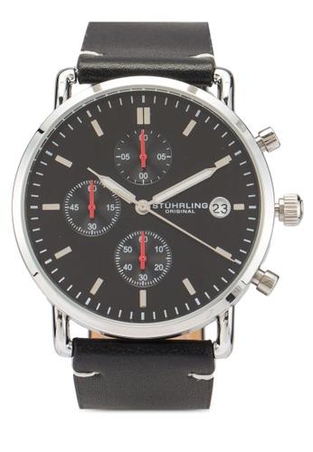 Stuhrling Original black Monaco 3903 Watch B7640ACA637DA7GS_1