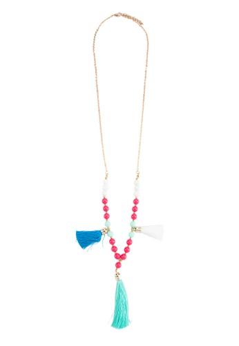 三色串珠流蘇項鍊esprit outlet 香港, 飾品配件, 項鍊