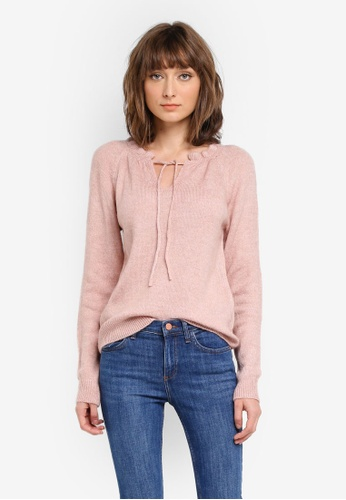 Mango pink Ruffled Detail Sweater MA193AA0T1DRMY_1