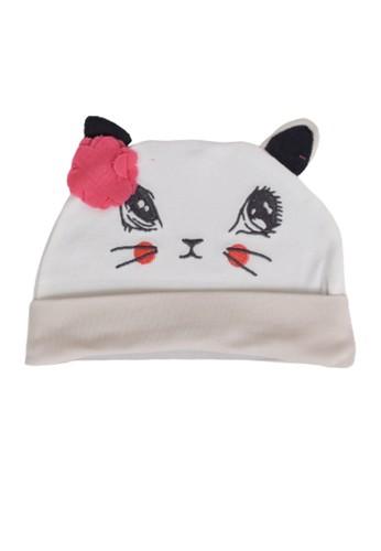 Mini Zo white Holly Baby Girl Hat 10668KC397452EGS_1