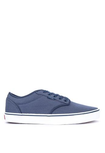 VANS navy Herringbone Plaid Atwood Sneakers EA5FBSH780C85FGS_1