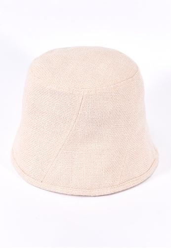We Enjoy Simplicity white Bucket Hemp Hat (Ivory White) 222B9AC5860779GS_1