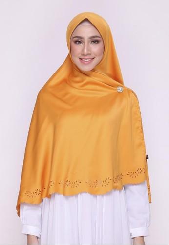First Hijab yellow Saqina Khimar Instant In Mustard A1F9FAA8B7A434GS_1