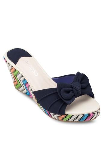 蝴蝶結編織楔形esprit 品牌涼鞋, 女鞋, 楔形涼鞋
