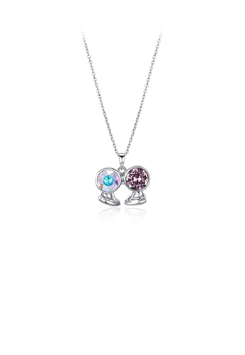 Glamorousky multi 925 Sterling Silver Fashion Gemini Pendant with Austrian Element Crystal and Necklace 821FBAC1BAD3FCGS_1