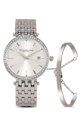 Stuhrling Original silver 3929 Quartz Crystal Watch & Bracelet Set C1913AC2DD4631GS_1