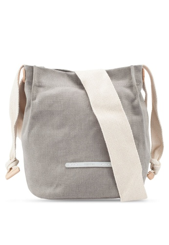 Rawrow beige Cross Shoulder 711 Wax Canvas Bag 80561ACE818F47GS_1